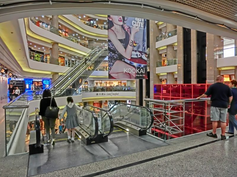 Atrium of Times Square mall in Causeway bay