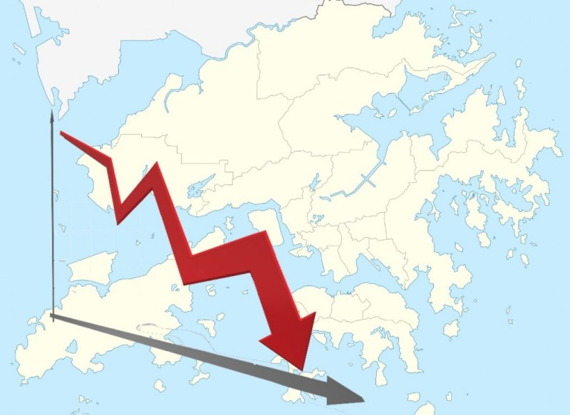 Hong Kong decline.