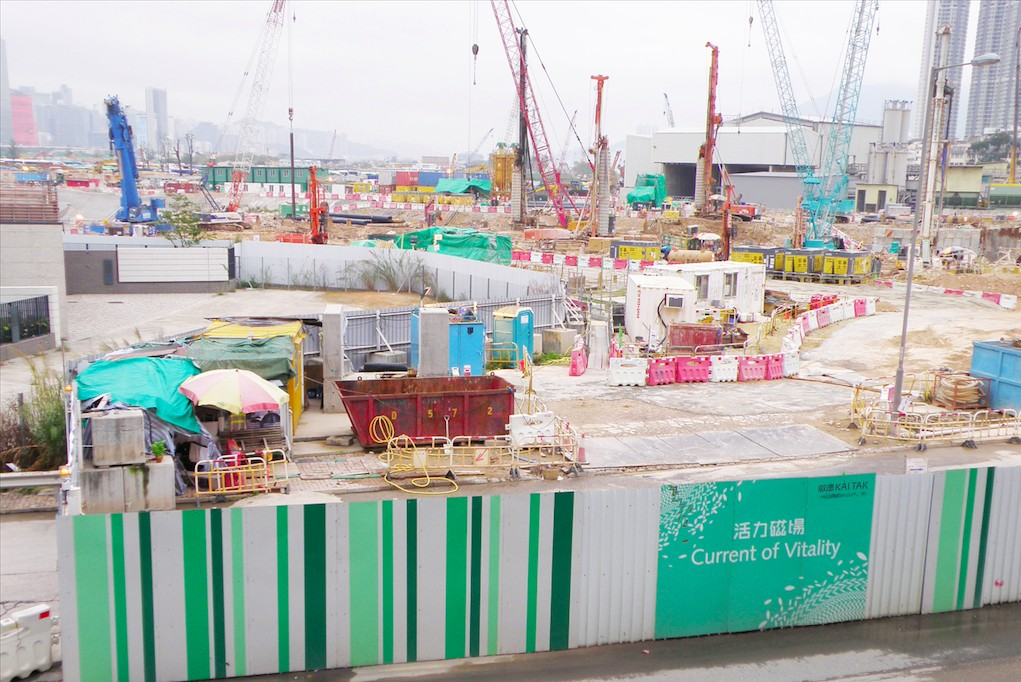 To Kwa Wan station of the SCL under construction in March 2015. Photo: Wikimedia Commons.