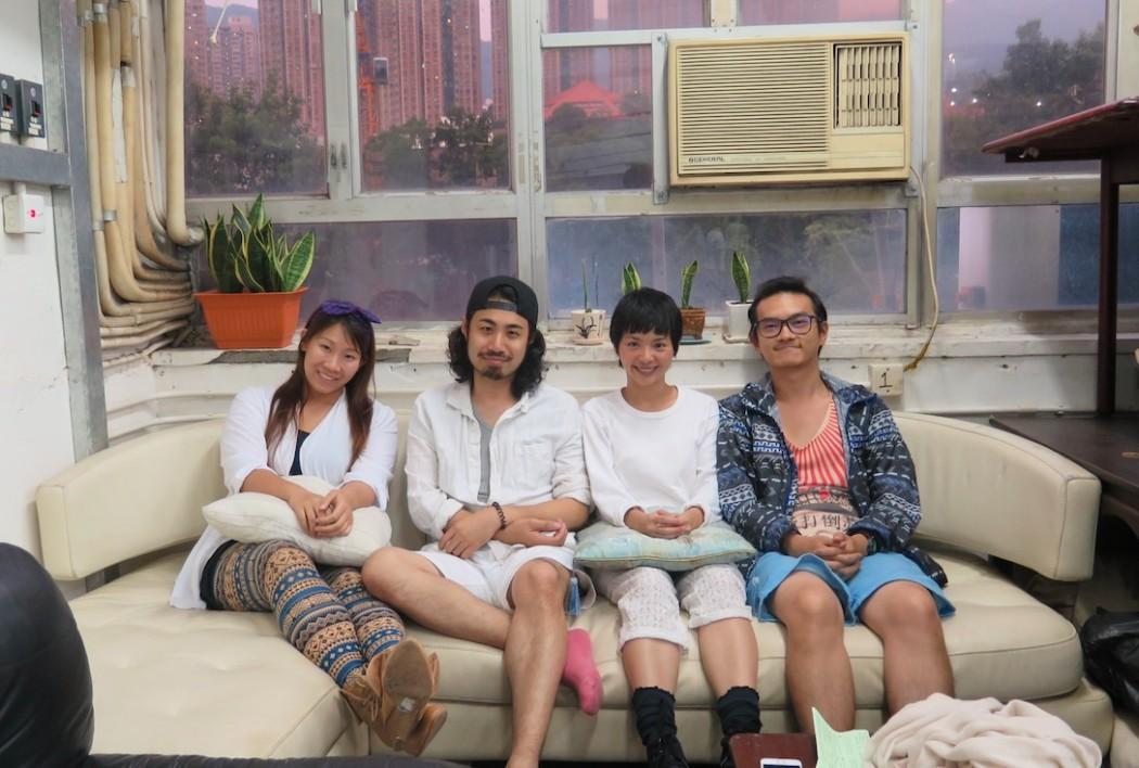 Members of Artocrite Theatre. Photo: HKFP