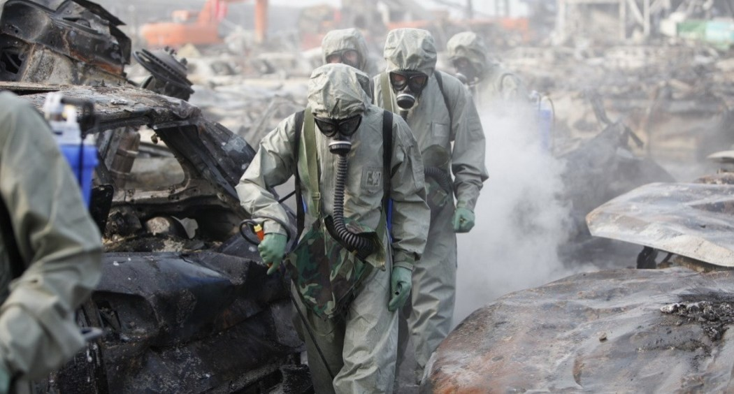 tianjin clean up operation