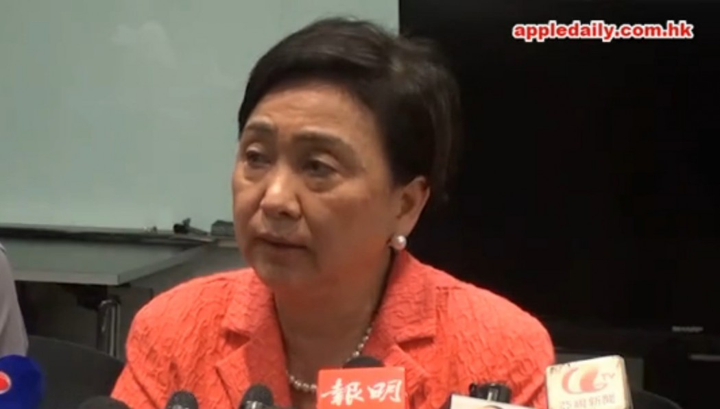 Emily Lau. Photo: Apple Daily.