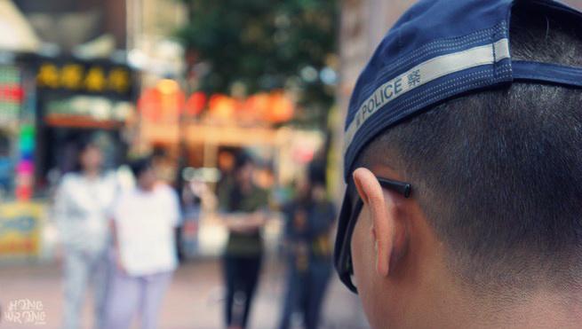 stock photo hong kong police