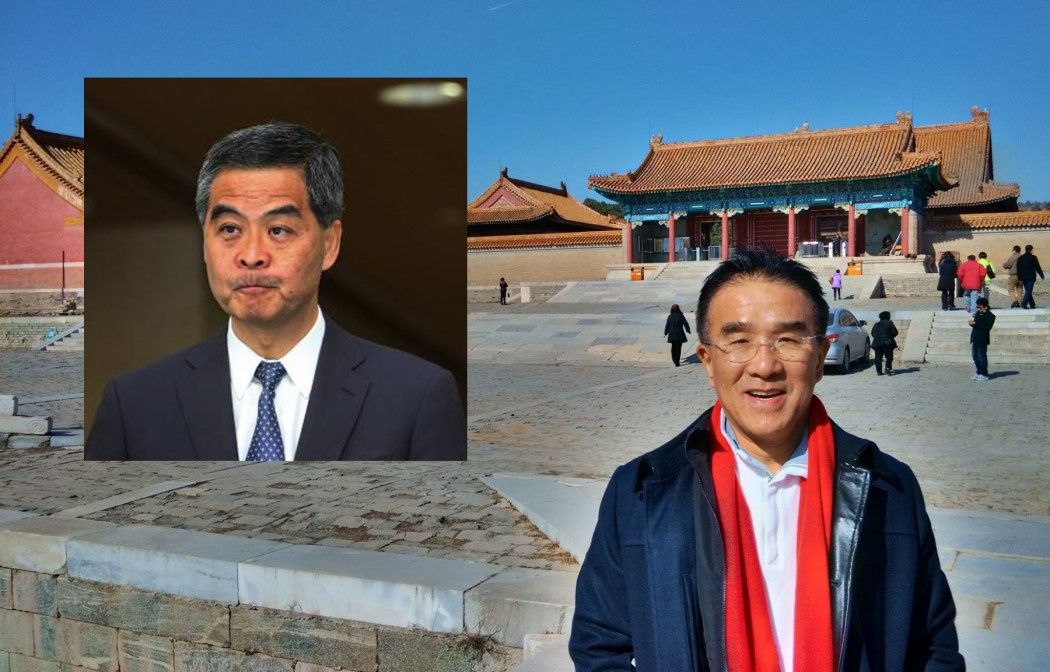Michael Tien criticised CY Leung in an interview.