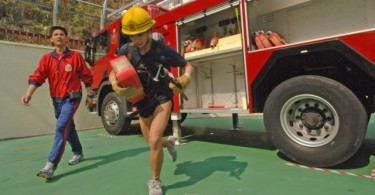 Firefighter fitness test