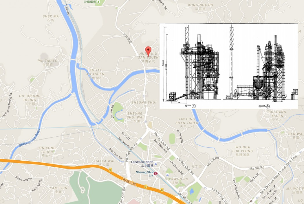 The asphalt plant to be built in Sheung Shui.