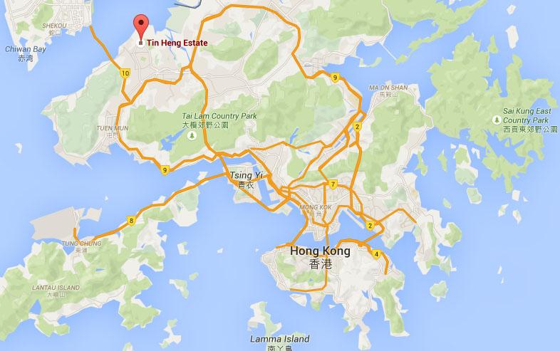 Location of TIn Heng Estate