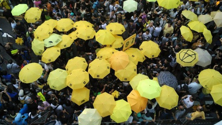 Occupy protest one year anniversary in Admiralty