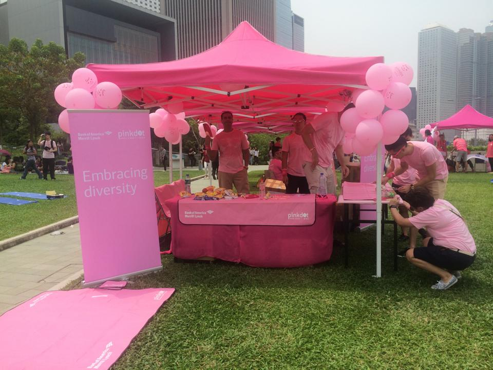 pink dot carnival booth