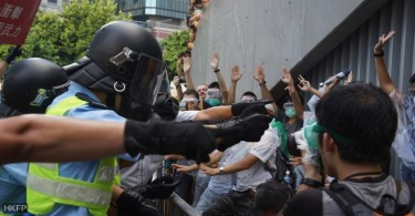 Hong Kong police during the Occupy protest.