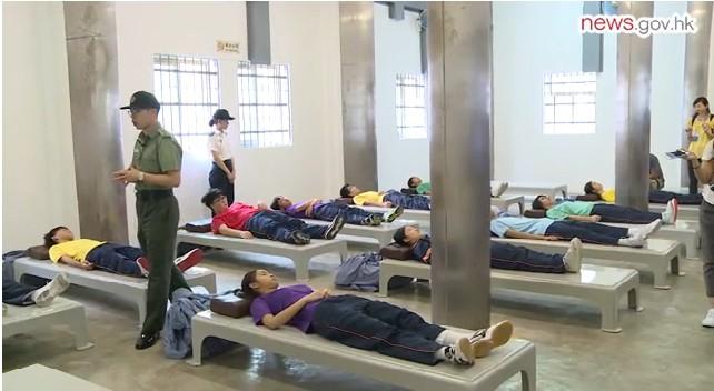 student prison sleeping