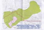 Pink area indicates the area on sale; Green area to the right of red line is a part of Lion Rock country park. Photo: Inmedia.
