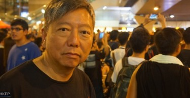Lee Cheuk-yan at occupy 2014