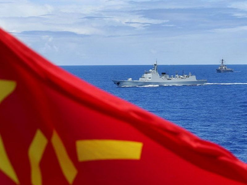 Chinese naval drill