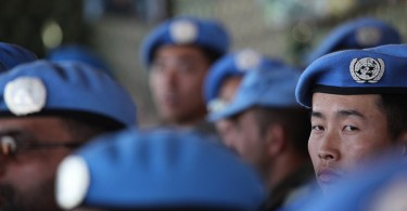 Chinese peacekeepers