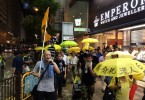 Protesters passing through Tsim Sha Tsui.