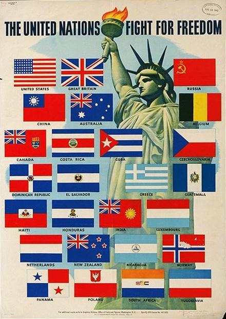 Wartime poster for the United Nations