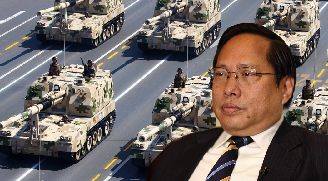 Albert Ho on military parade