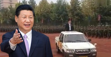 Hebei college president's personal military parade