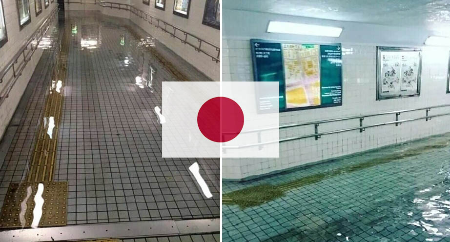 Japanese flooded subway
