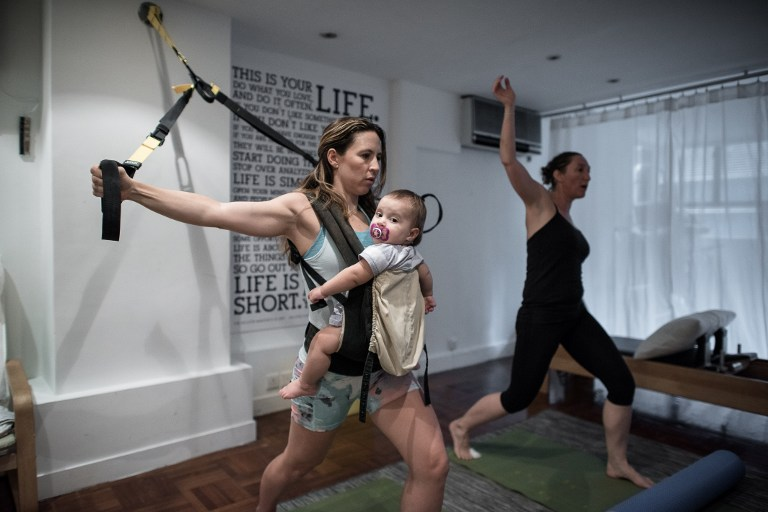 d276aa04d3f Baby-wearing revival gets a fitness twist in Hong Kong