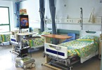 Beds in a Hong Kong hospital.