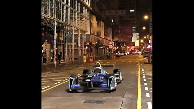 Formula E car in Mong Kok