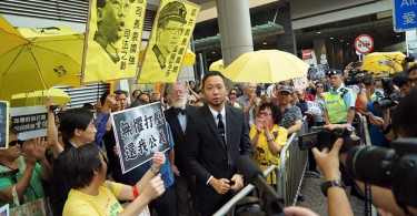 tsang and supporters