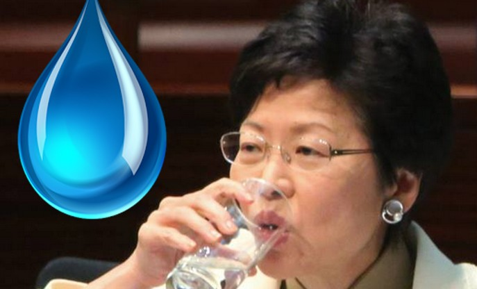 carrie lam lead water