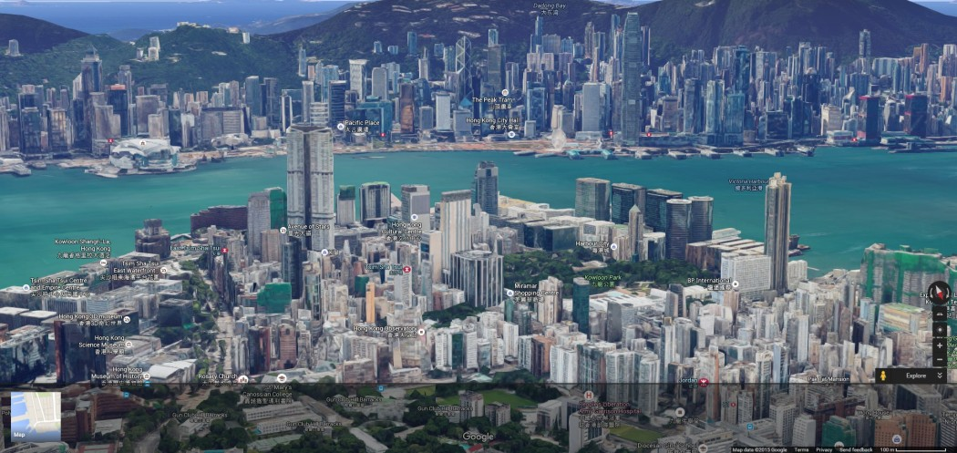 Take a digital helicopter ride: 3D Google Maps launched in Hong Kong Digital Google Maps on