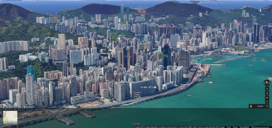 Take a digital helicopter ride 3d google maps launched in hong kong hk google maps 3d gumiabroncs Images