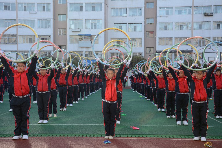 chinese children hula hoops