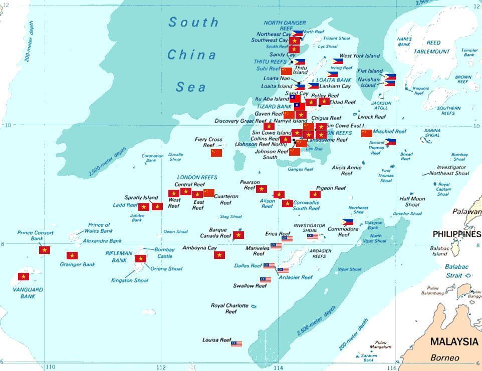 South China Sea territorial disputes. Photo: Wikicommons.