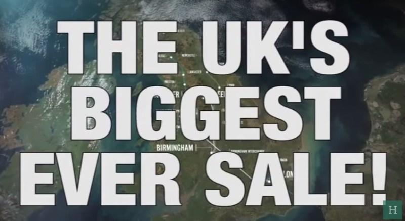 UK sale humour satire