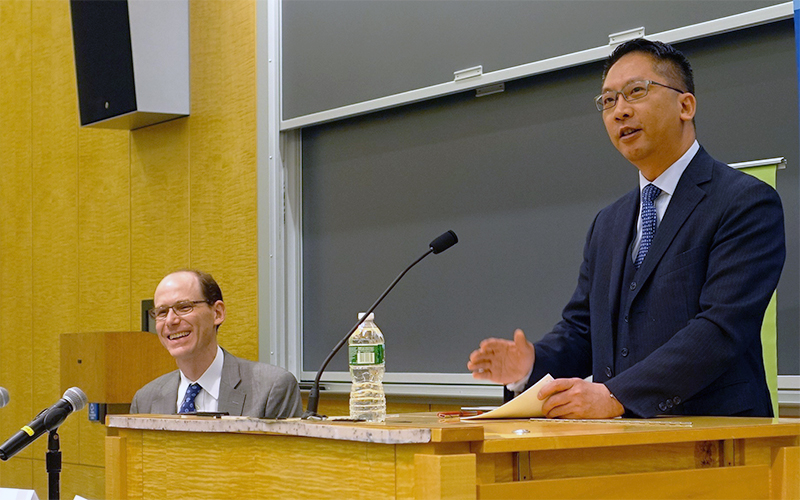 Rimsky Yuen during the talk.