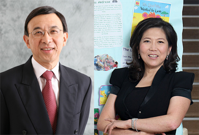 CUHK Council members Vincent Cheng (left) and Maggie Koong (right).