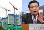Anthony Cheung and a public rental estate in construction.