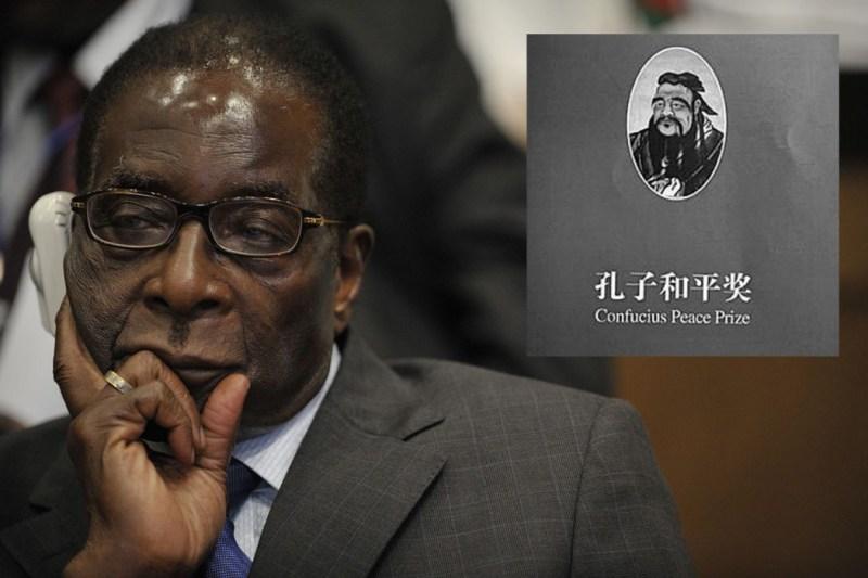 mugabe confucius peace prize