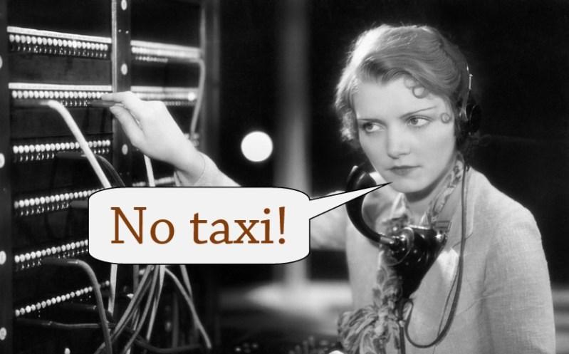 no taxi