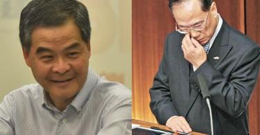 Leung Chun-ying (left) and Donald Tsang (right)