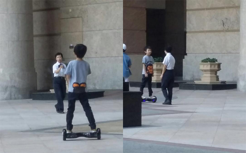 Hoverboard seen being used in Hong Kong