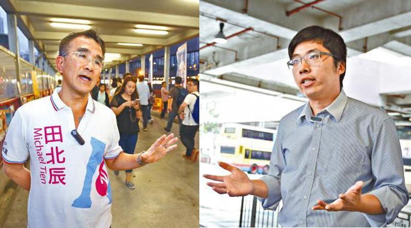 Michael Tien (left) and Chiu Yan-loy (right)