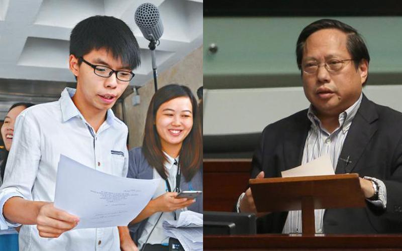 Joshua Wong (left) and Albert Ho (right).