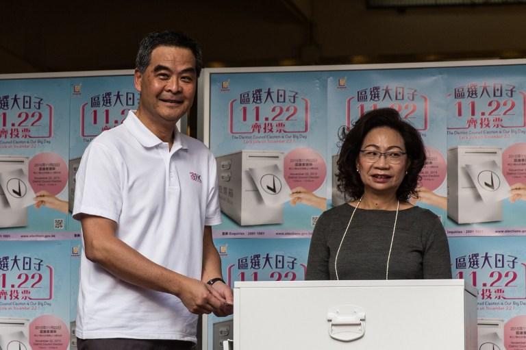 cy leung regina hong kong vote