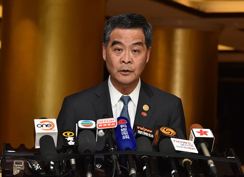 Chief Executive Leung Chun-ying. Photo: Gov HK.