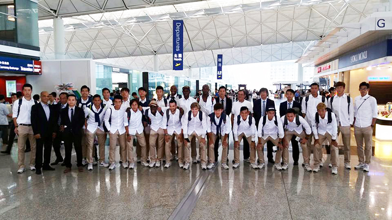 The Hong Kong national team has boarded the plane to Maldives.