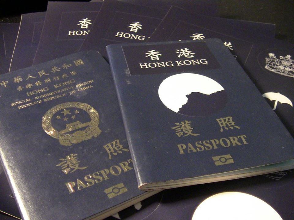 Hong Kong passport stickers