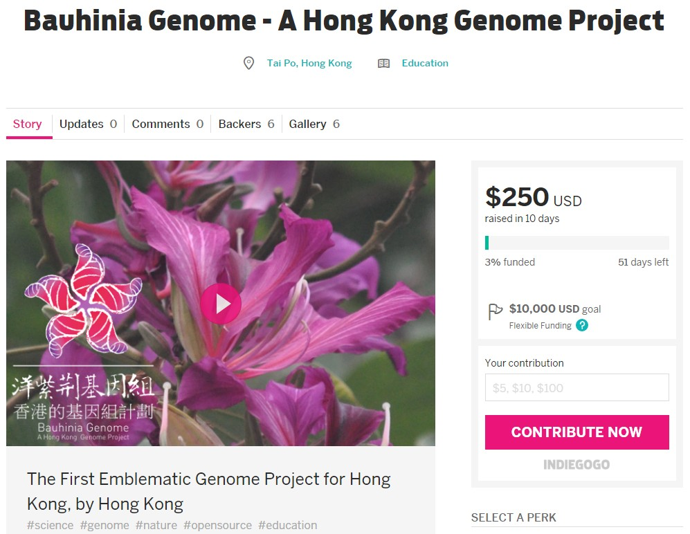The Bauhinia Genome sequencing project.