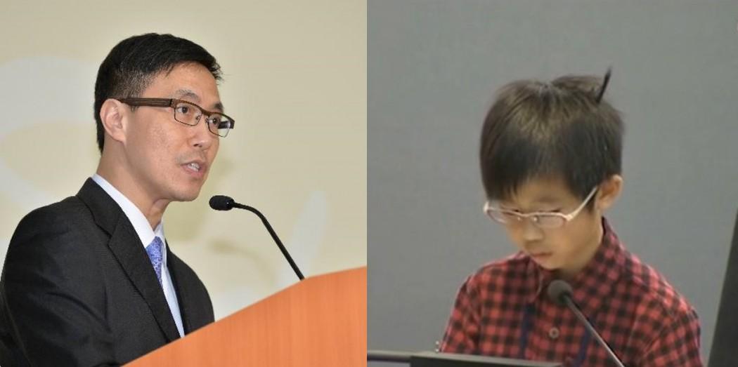yeung and little kid tsa