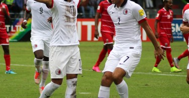 Goal scorer Paulinho (left) and striker Chan Siu-ki